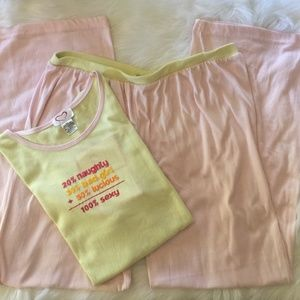 NWT Jolie Intimates Yellow 100% Sexy Pajama Set
